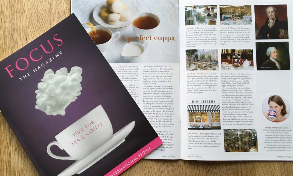 Perfect cuppa article for Focus magazine