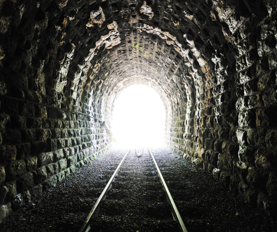 There is light at the end of the tunnel/ The end is in sight